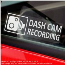 5 x DASH CAM Recording-30x87mm WINDOW Stickers-Vehicle Camera Security Warning Dash Cam Signs-CCTV,Car,Van,Truck,Taxi,Mini Cab,Bus,Coach,Go Pro